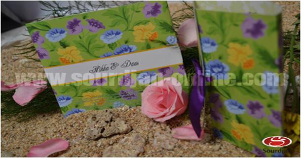 Undangan Pernikahan Softcover Flower Garden