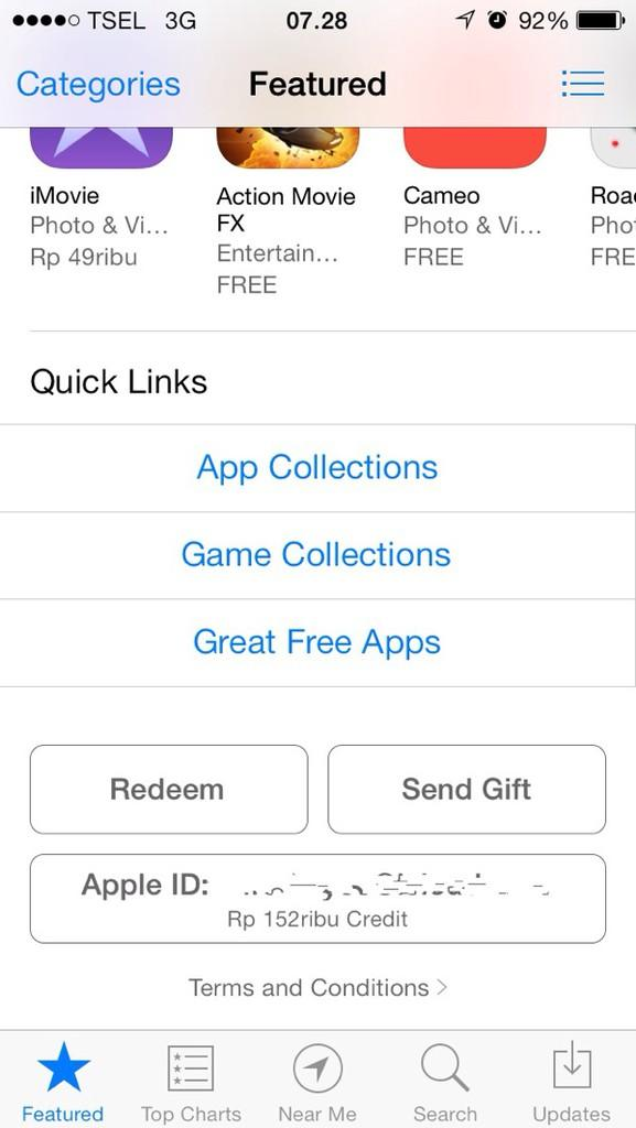iTunes Gift Card (IGC) for iPhone/iPod/iPad/Mac, install Games-aplikasi original