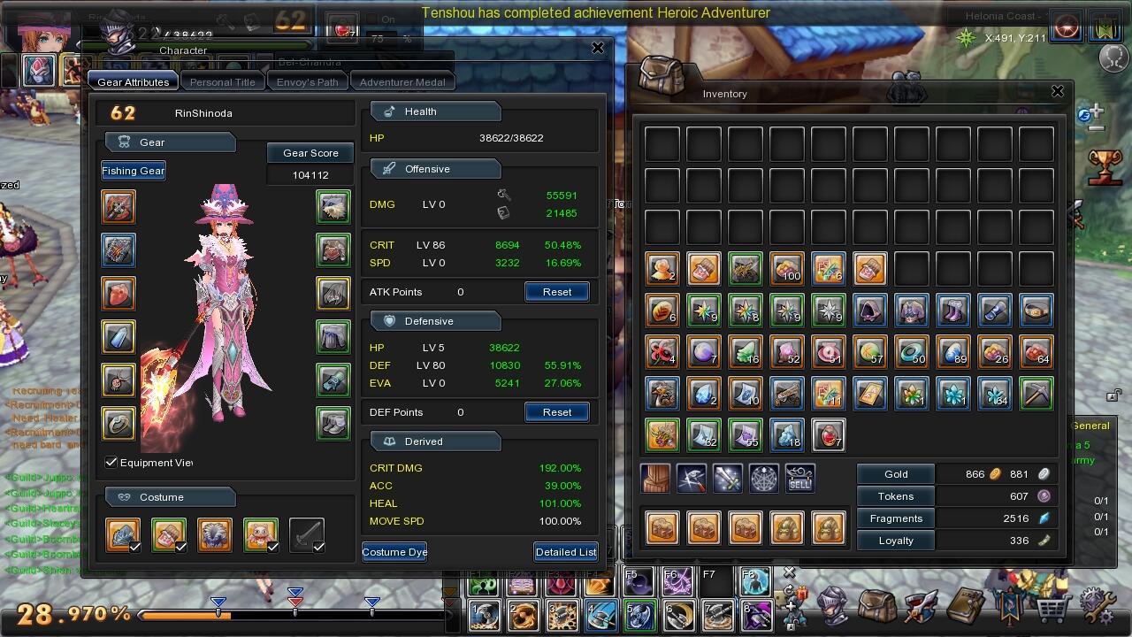 J>ID Aura Kingdom Ravager/Sorc 62 Hydra Murah