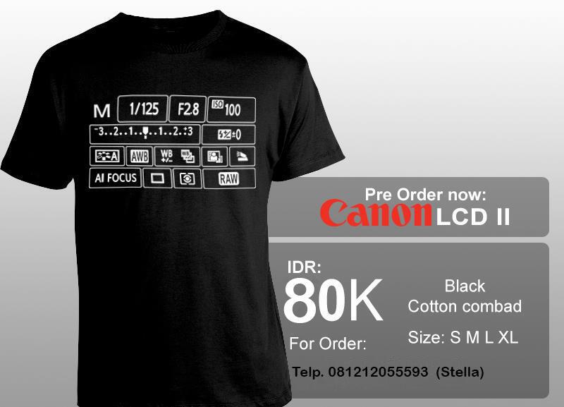 T-Shirt Canon LCD II