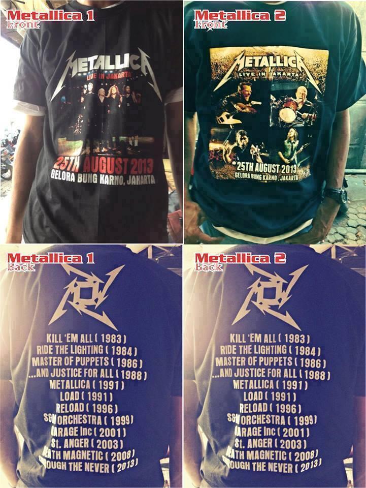 Tshirt / Kaos Metallica
