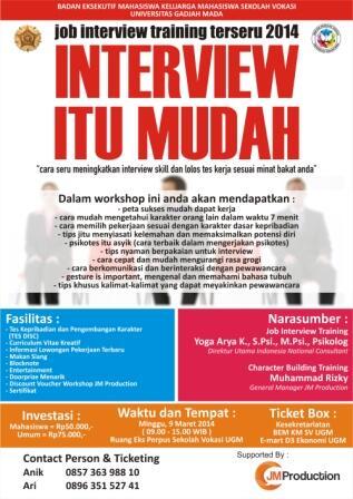 Seminar Job Interview Training 2014