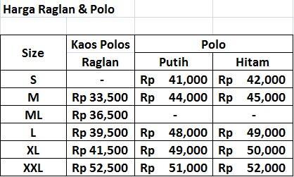 Kaos vneck/oneck/polo/raglan murah nya offside gan !!
