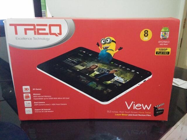 "New BNOB TREQ View Tablet 10"" Jelly Bean Murah (Hadiah) Jogja/Kebumen"
