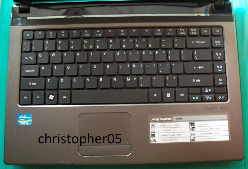 [Bandung] Laptop Acer 4750, core i3-2310M, RAM 2GB, HDD 500GB, Mulus, Bisa main PES