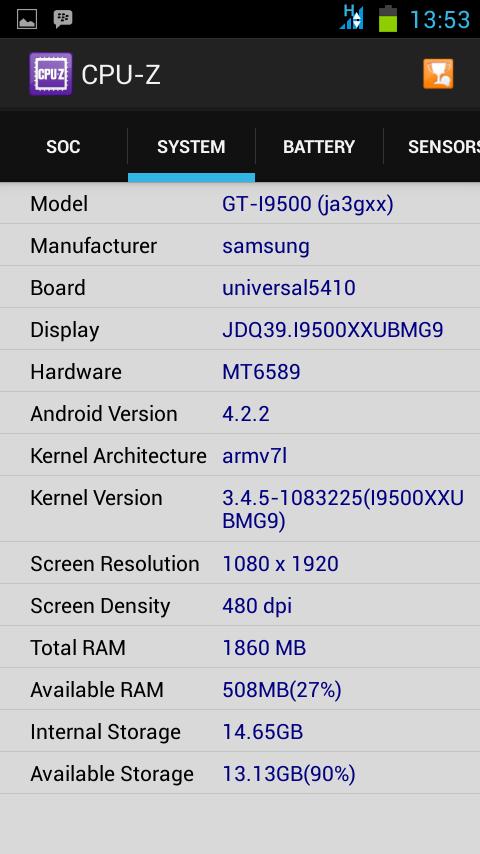 Samsung S4 SuperKing 99% mirip