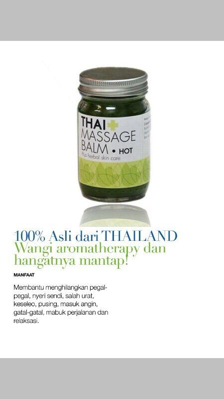 Thai Massage Balsem untuk Pijat,Pegel-pegel dijamin hangat