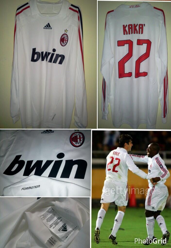 Jersey Ac Milan 2007/08 LS Formotion #22 KAKA Ori