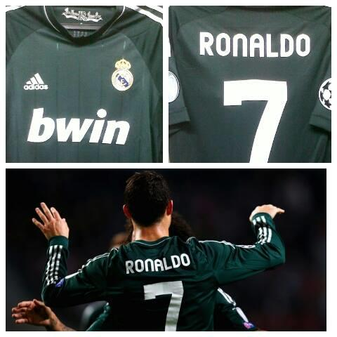 WTS jersey REAL MADRID 3RD 12/13 SIZE S CR7+STARBALL+RESPECT PATCH 150RB