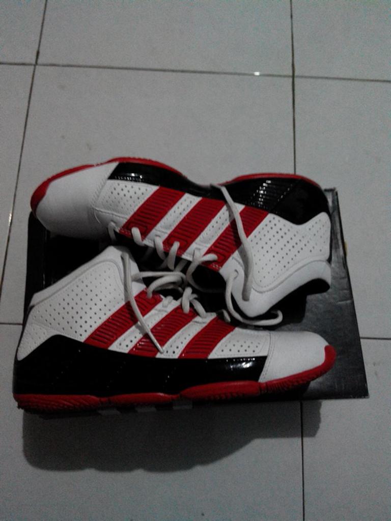 jual sepatu basket adidas TD2 putih merah