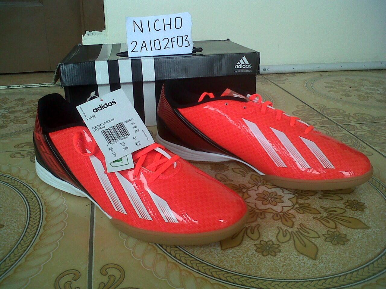 Jual Sepatu Futsal Adidas F10 ORIGINAL