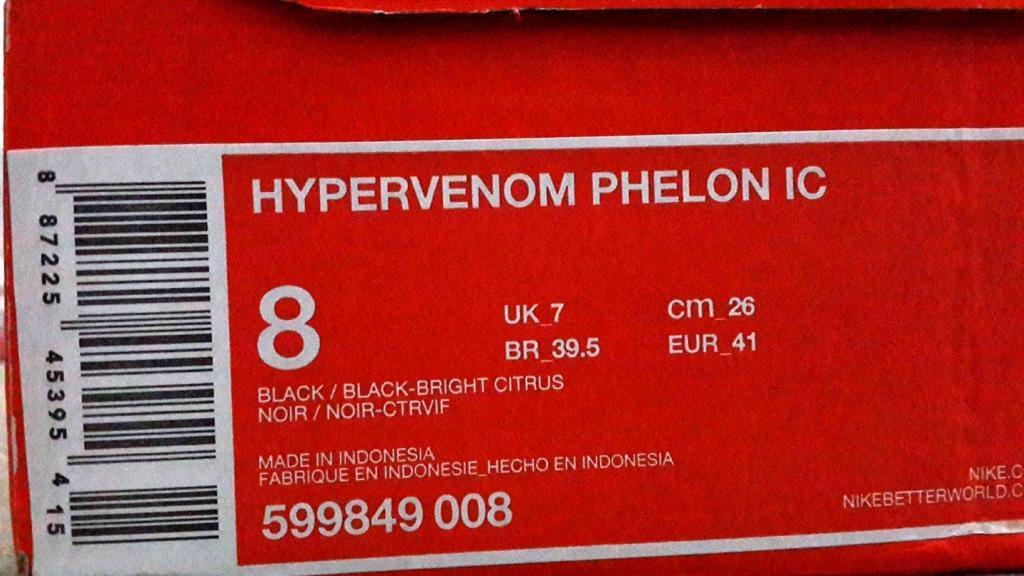 Sepatu Futsal Nike Hypervenom Phelon IC Original 1000%