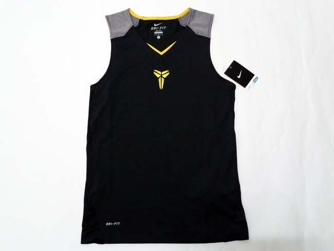 Baju Basket Nike As Kobe Game Time 8 SleeveLess DarkGrey Gold