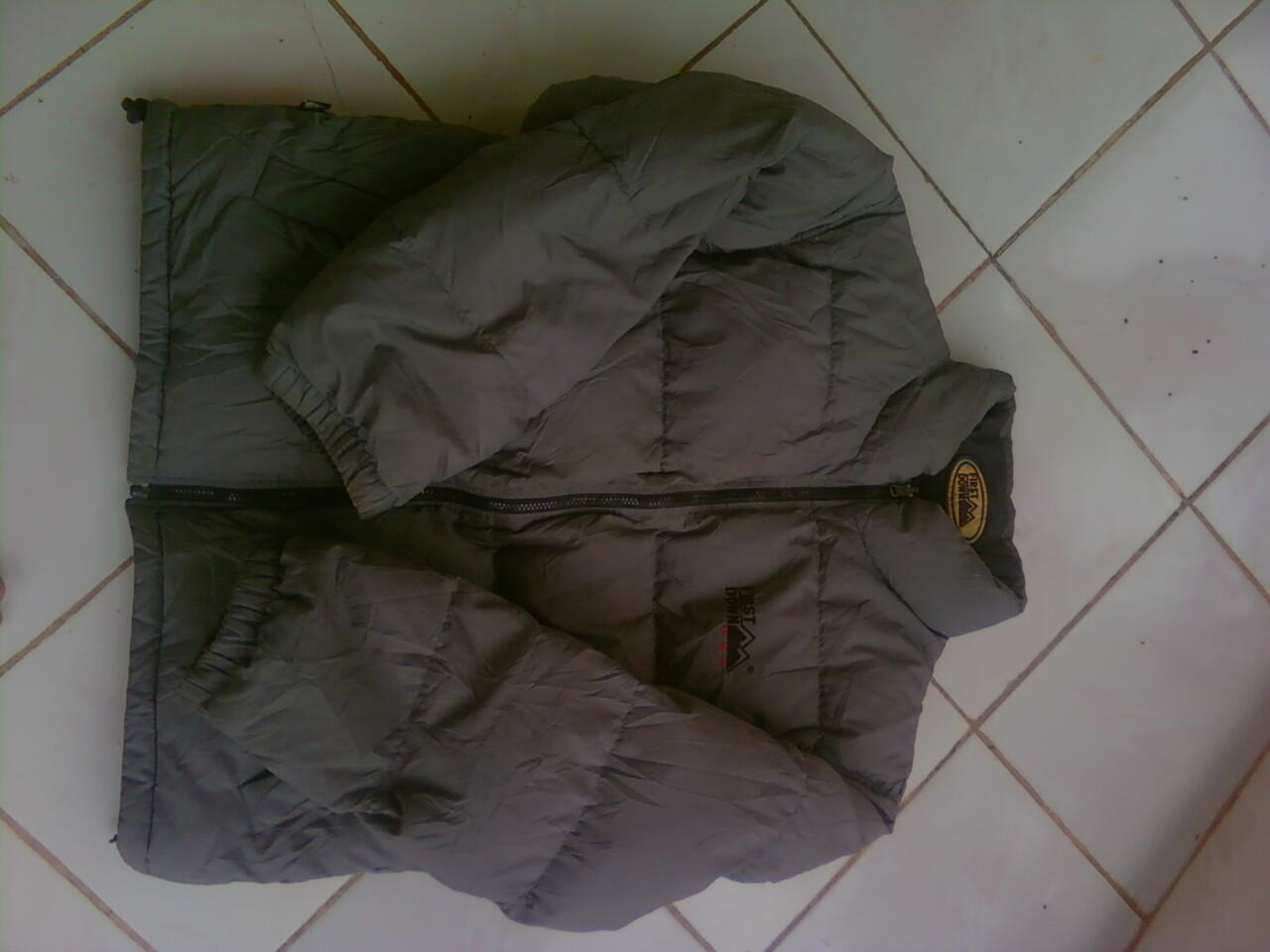 dijual jaket first down bulu angsa