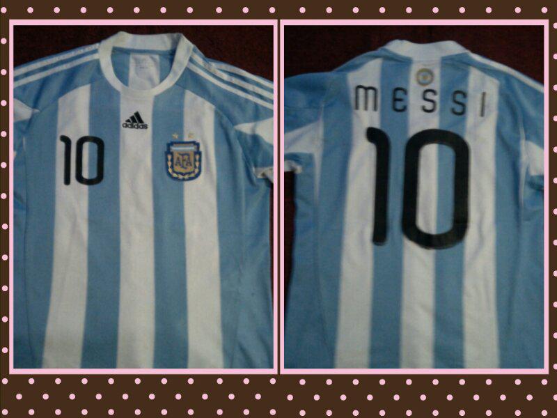 ARGENTINA HOME MESSI#10 (RETRO WORLDCUP 2010) Rare!!