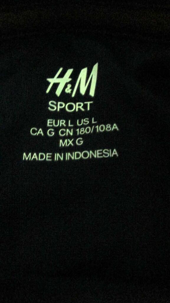 Kaos Adidas , H&M sport, Asics , Colombia , Buat olahraga men / women original