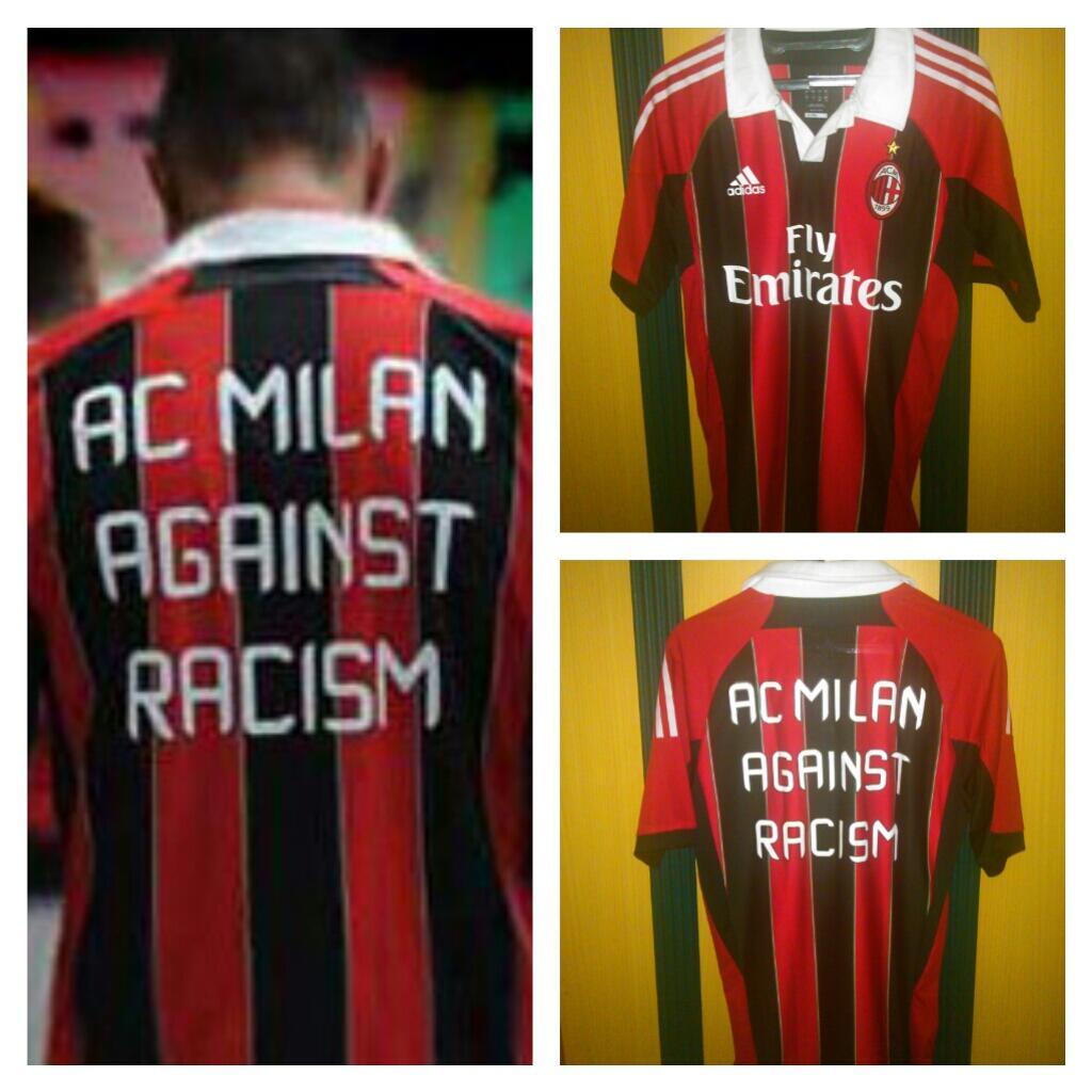 [LELANG OB Rp. 0,-] Jersey Techfit AC Milan Against Racism Edition