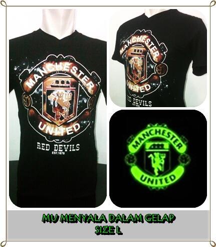 Supplier Kaos Bola Glow In The Dark Menyala Murah