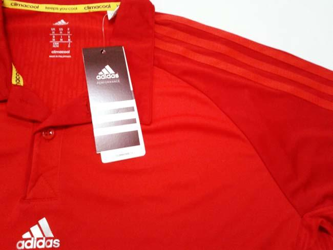 baju Fitnes Polo Shirt Fitnes Adidas Red