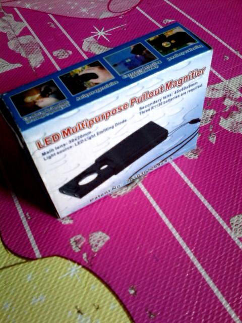 Terjual Kaca Pembesar Lup Loop Magnifier Senter Untuk