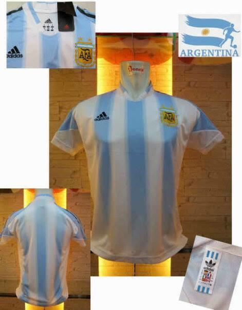 JERSEY ARGENTINA RETRO CHAMPION VS ARGENTINA WORLD CUP 2014