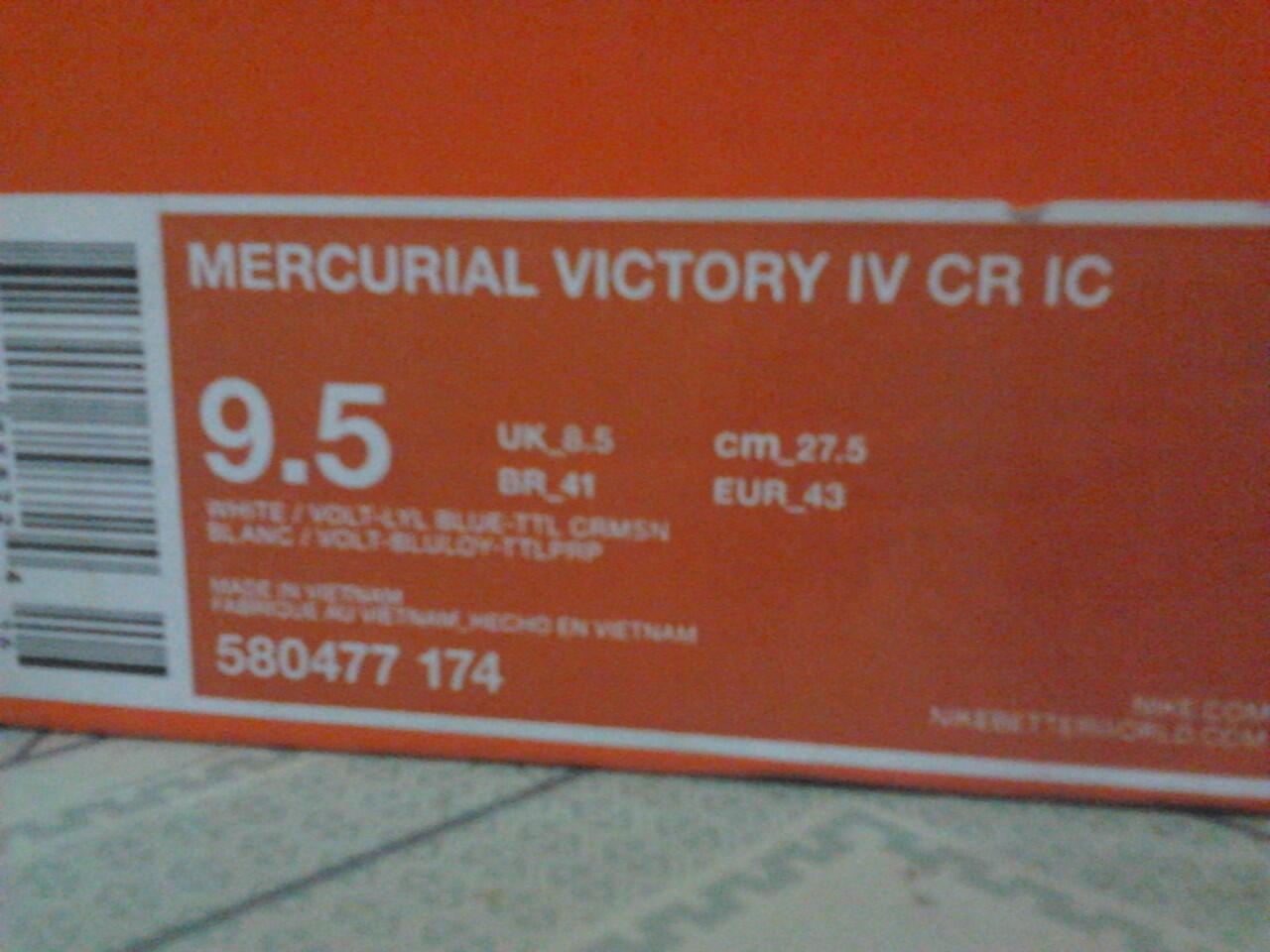 JUAL NIKE MERCURIAL IV CR IC size 43 NEGO