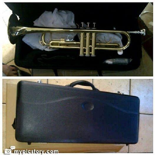 Jual Trumpet / trompet / terompet lacquer merk OSTRAVA with hardcase harga murah