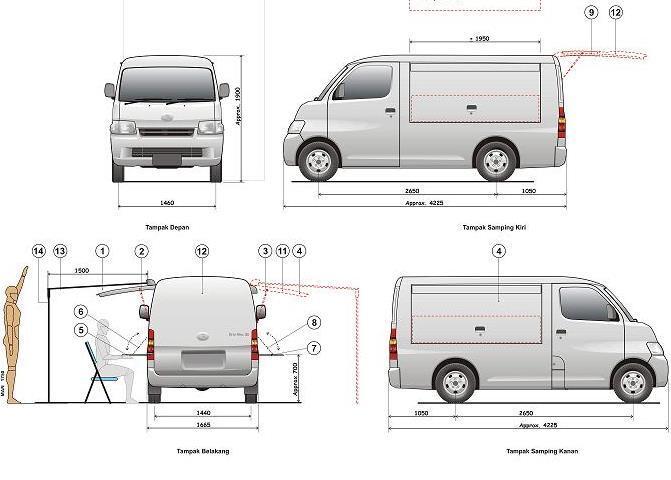 Terjual Dijual  Moko Daihatsu Gran Max Blind Van 1 3 Karoseri Ac 2010 Terawat Siap Jualan