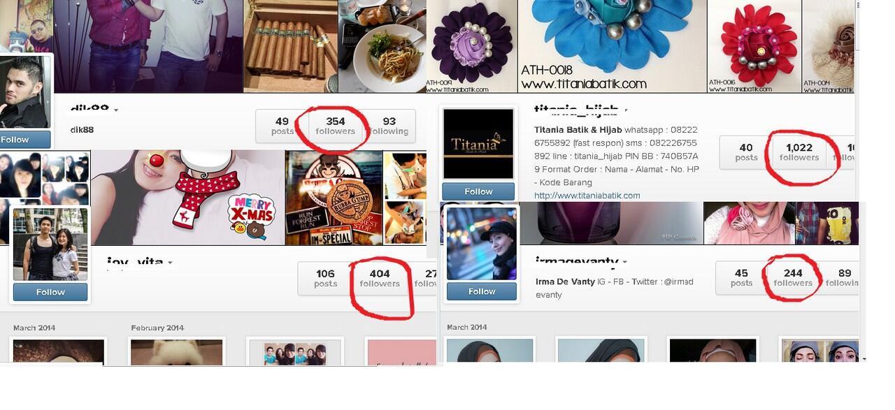 [JUAL ECER] Jasa Follower Instagram Termurah Sekaskus !! Buktiin gan !