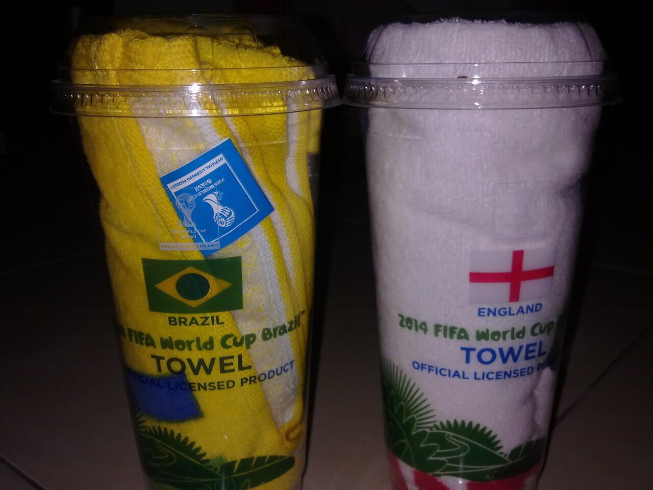 HANDUK BRAZIL & ENGLAND OFFICIAL MERCHANDISE FIFA WORLD CUP 2014