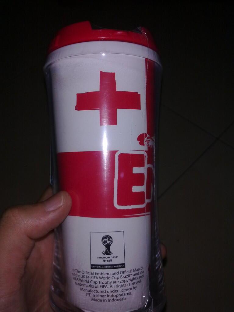 BOTOL MINUM ENGLAND OFFICIAL MERCHANDISE FIFA WORLD CUP 2014