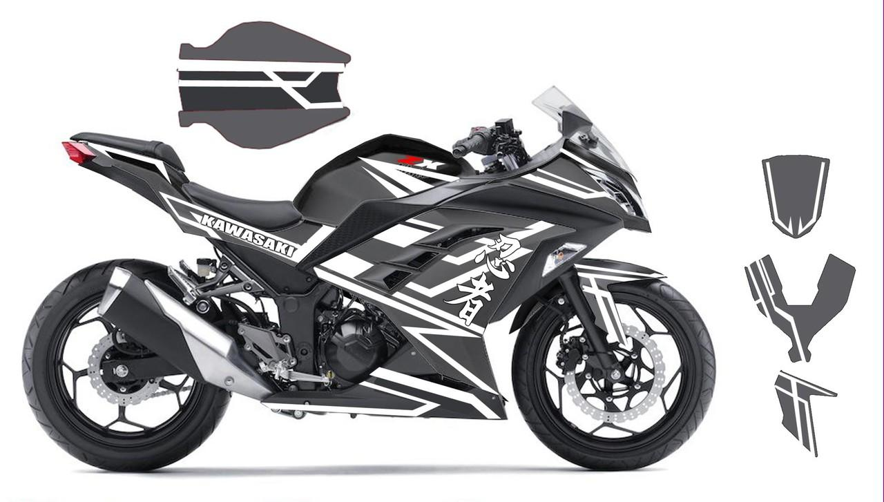Cutting sticker decal kit motor ninja250 250fi byson beat cbr 150