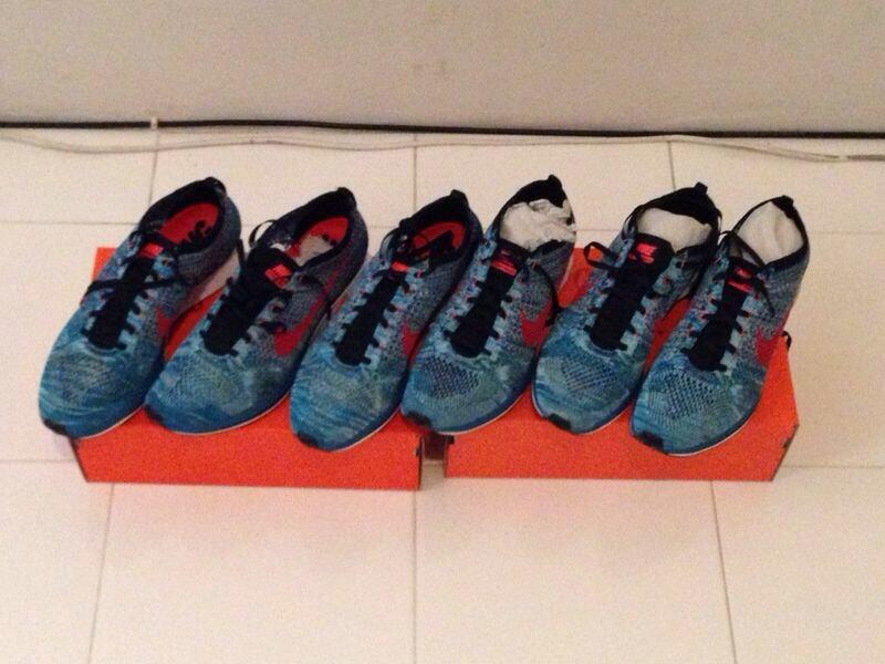 Nike Flyknit Racer Multicolor Glacier Ice ( no gyakusou fuelband sportwatch )