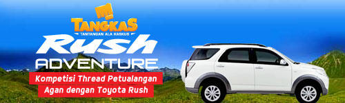 [Tangkas] Ceritain Petualangan Impian Lo di Rush Adventure!