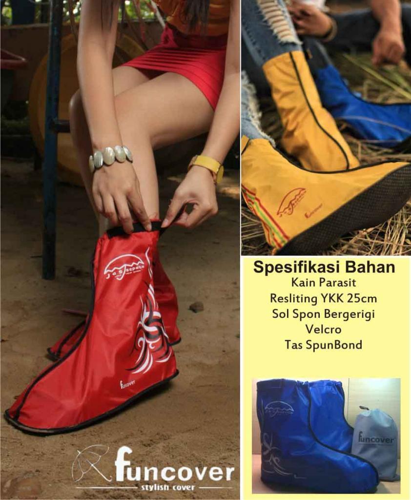 Cover Shoes Mantel Jas Hujan Sepatu FunCover Cibinong Depok Pasar
