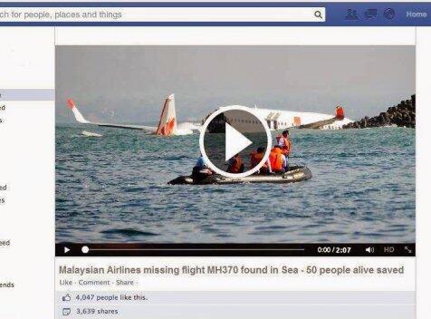 Malaysia Airlines ditemukan! Stop, jangan dipercaya!