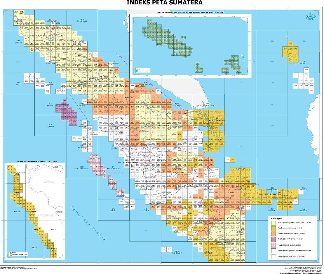 Cari Jual Peta RBI Digital Seluruh Indonesia HOT SALE