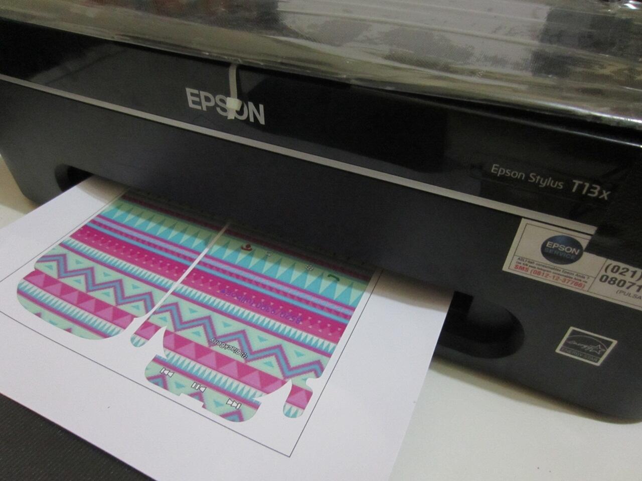 Sticker vinyl bahan garskin bisa print dengan printer inkjet