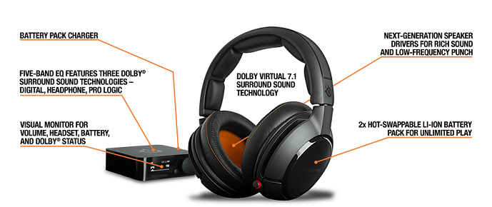 [CYBER] READY STOCK Gaming Headset Steelseries Wireless H BNIB