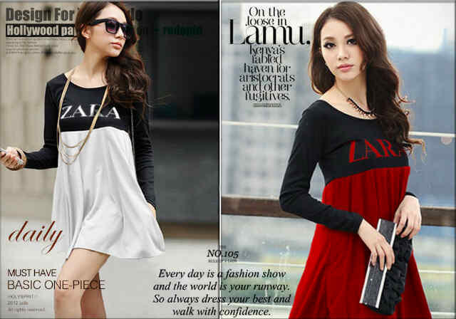Baju Dress Zarra Top - Spandek (1Pcs Ok)