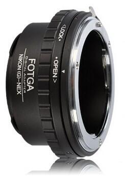 Adapter lensa NIKON G AI AF ke SONY NEX dgn diafragma (Nikon G AI AF to Sony NEX lens