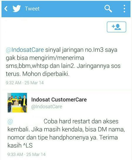 Dear INDOSAT Tersayang