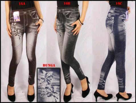 Legging Bunga Jeans