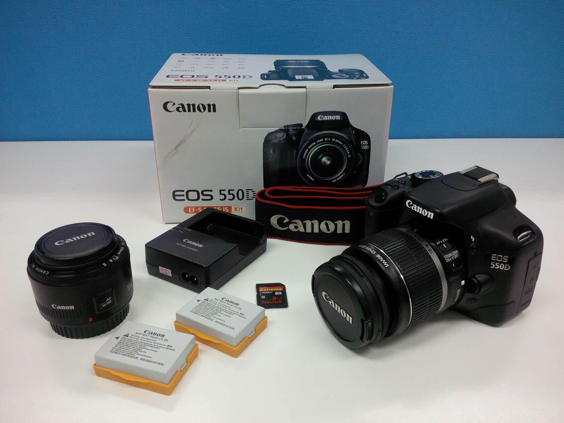 Canon EOS 550D Kit (EF 18-55) + Bonus Lensa