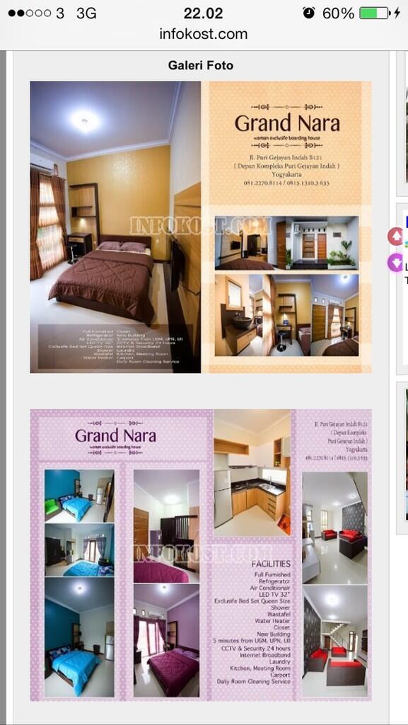 Grand Nara DAFTAR HOTEL MURAH Di MALIOBORO JOGJA Lengkap Dengan Fasilitasnya