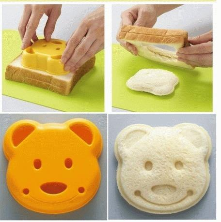 Cetakan Roti Beruang / Bear Sandwich Mold