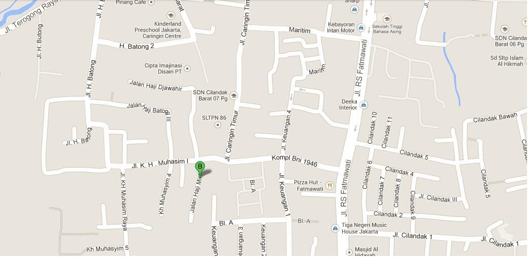 Kost Daerah Cilandak Barat, Fatmawati. Jakarta Selatan.
