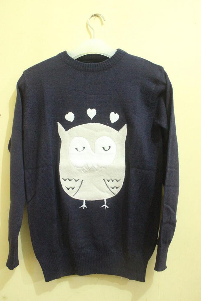 Sweater Rajut Motif OWL habisin stok, murah aja gan