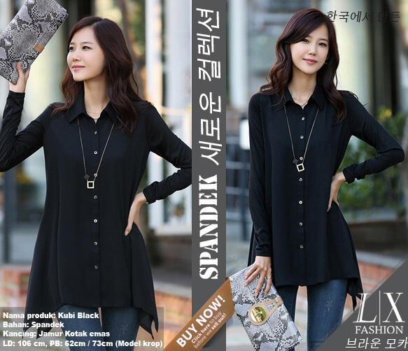 blouse kubi black B668 (SUPPLIER LADY CLOTH)