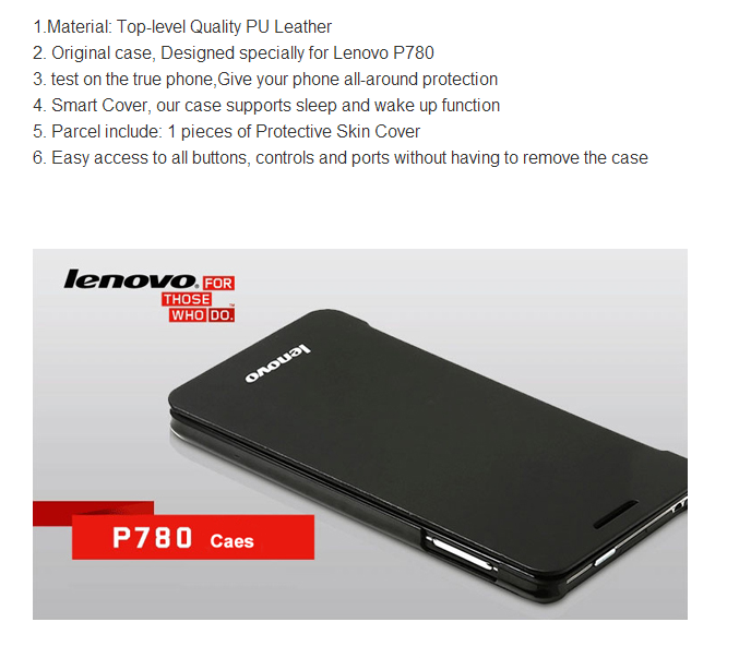 Original Flip Cover Lenovo P780 only
